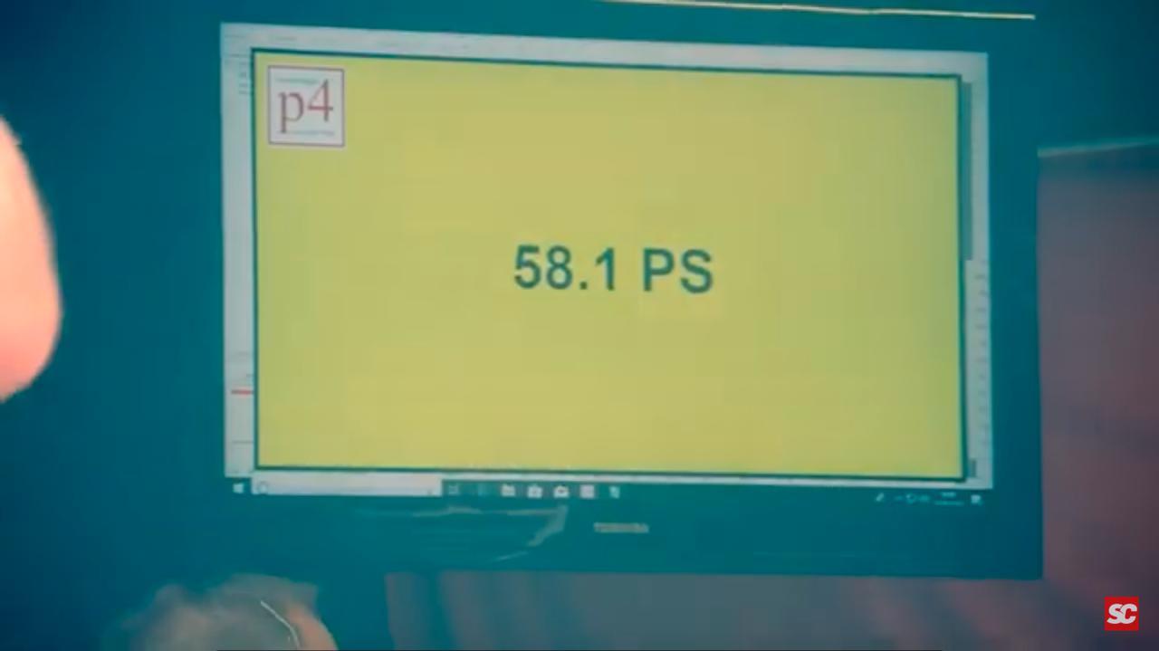 画像: 動画の後半・・・のパワーチェックでは、なんと58.1psをマーク!! www.youtube.com