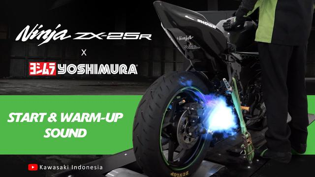画像: Kawasaki Ninja ZX-25R x Yoshimura: Start & Warm-up [Sound] youtu.be