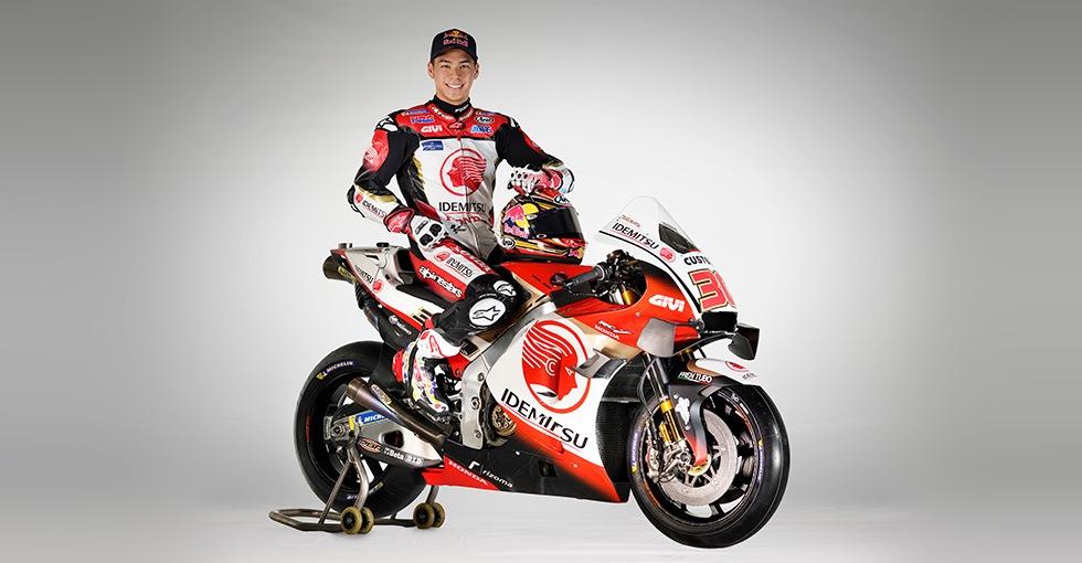 画像: LCR Honda IDEMITSUカラーのRC213Vに跨る中上貴晶。2020年シーズンはぜひ、Moto2時代の2017年以来となる表彰台登壇を期待したいですね! www.honda.co.jp