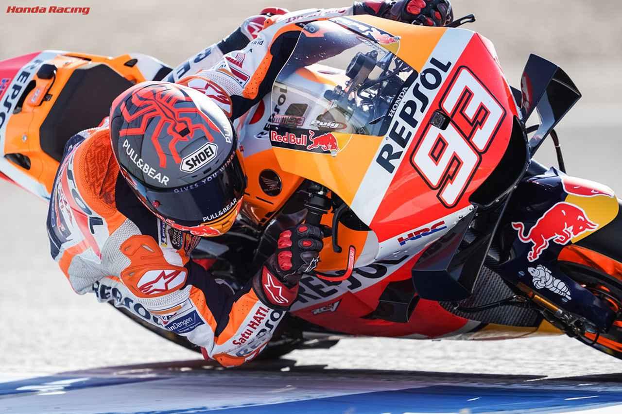 画像: 右上腕の骨折手術後、超短期間でコースに戻ってきたM.マルケス(ホンダ)。 www.honda.co.jp