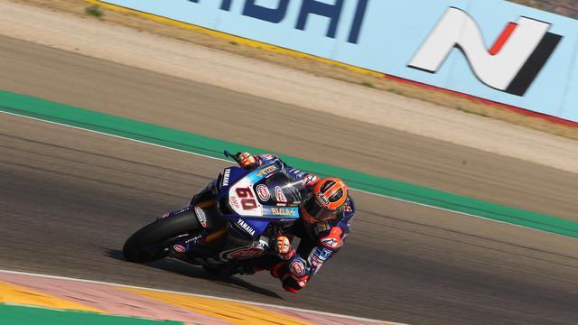 画像: アラゴン・サーキットで自身初となる表彰台(3位)をスーパーポールレースで獲得したM.ファン・デル・マーク(ヤマハ)。 www.worldsbk.com