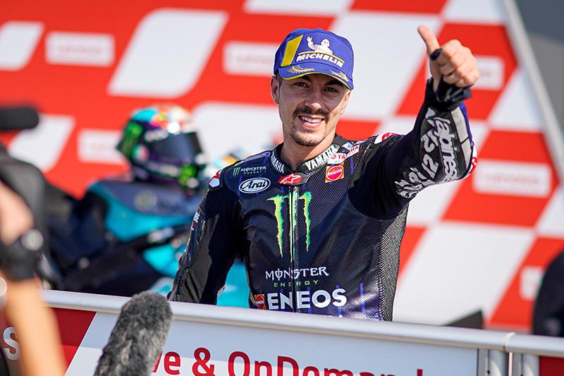 画像: ラップレコードを更新(1分31秒411)し、ポールポジションを獲得したM.ビニャーレス(ヤマハ)。 race.yamaha-motor.co.jp