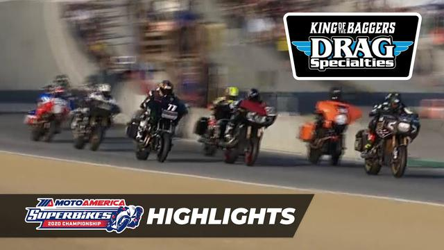 画像: MotoAmerica Drag Specialties King of the Baggers Race Highlights at Laguna Seca 2020 youtu.be