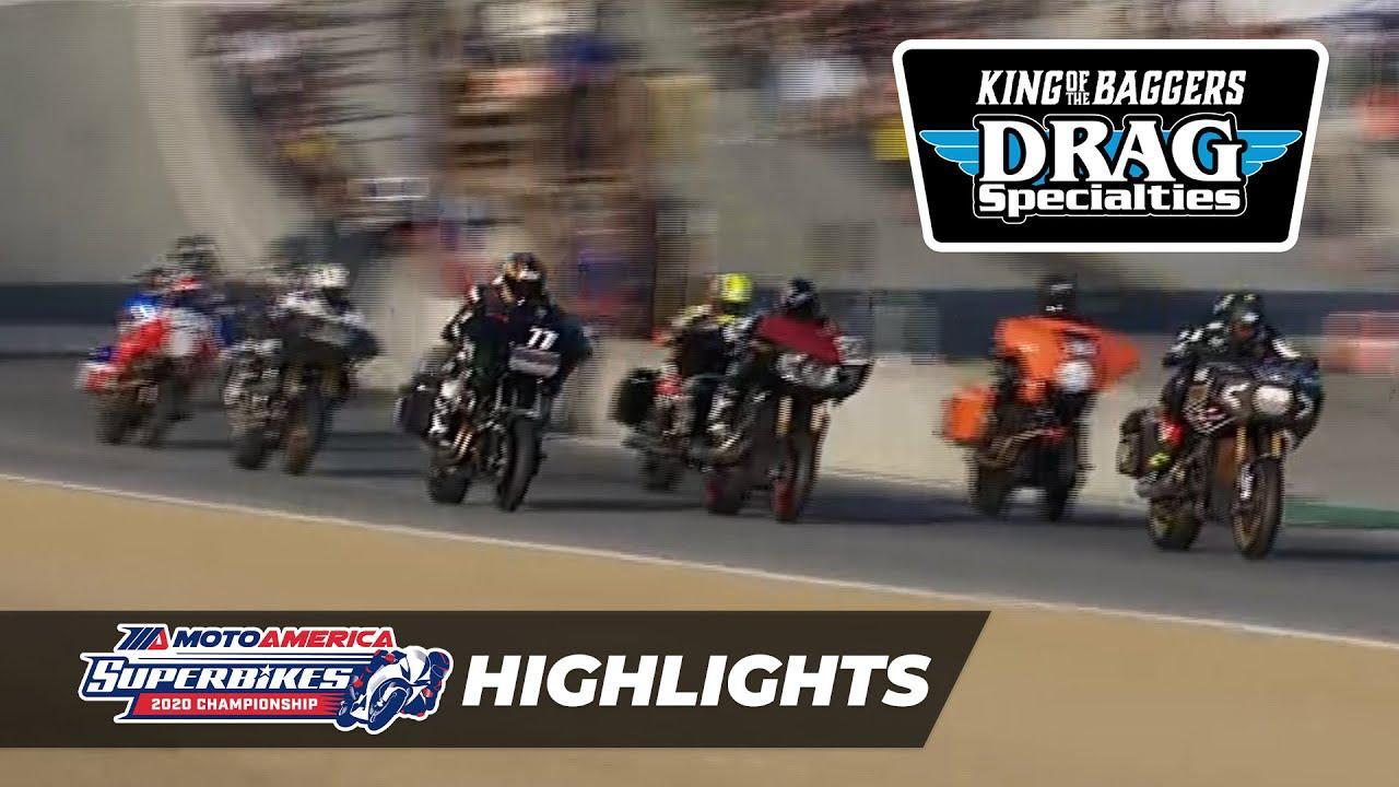 画像: MotoAmerica Drag Specialties King of the Baggers Race Highlights at Laguna Seca 2020 youtu.be