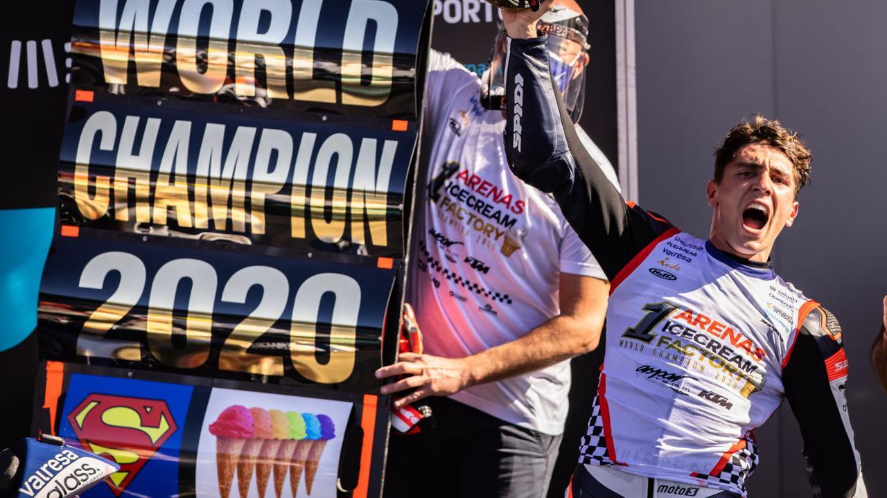 画像: 今シーズン3勝し、2020年度Moto3王者に輝いたA.アレナス(KTM)。 www.ktm.com