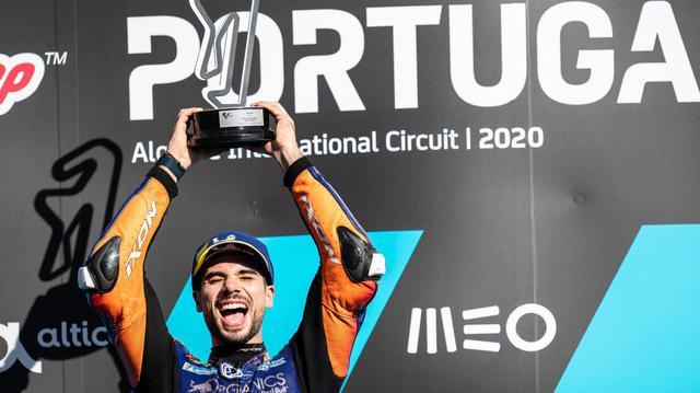 画像: ポールポジションからスタートし、リーダーの座を守り切り完勝で今シーズン2勝目を記録したM.オリベイラ(KTM)。 www.ktm.com