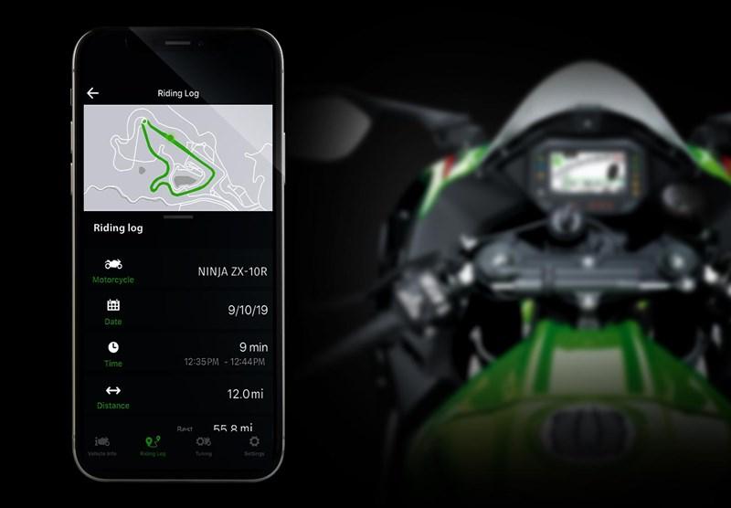 画像: 3種のライディングモード切り替え、発進時のホイールスピンやウィリーを抑制するローンチコントロール、エンジンブレーキコントロール、クルーズコントロール、クイックシフターなど、電子制御を活用した機能が充実。Bluetooth搭載スマートフォンとアプリを使うことで、車両情報、走行記録、電話着信、そしてセッティング変更をすることも可能です。 www.kawasaki.com