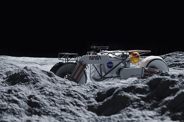 画像: NASAモーターサイクルの詳しいスペックはわかりませんが、誰もいない月の荒野を2輪車でアドベンチャーするのは、とても楽しそうですね。 www.behance.net