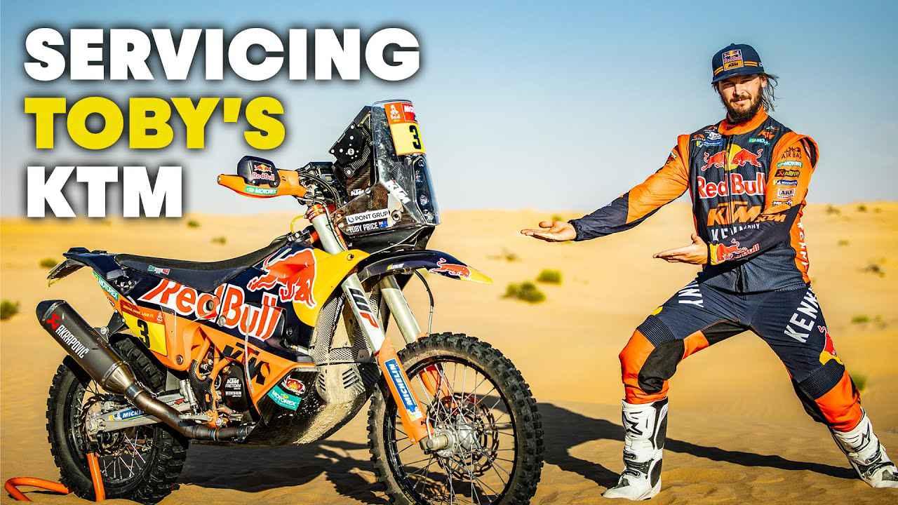 画像: Dakar Rally Motorcycle Service: Refreshing Toby Price's KTM 450 Rally youtu.be