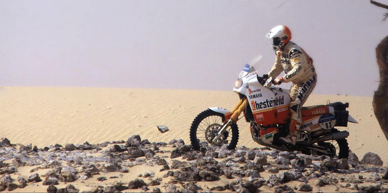 画像: ヤマハ時代のF.ピコはダカール制覇は果たせませんでしたが、ファラオラリーでは見事1986年と1992年の大会を制覇しています。 www.francopiccoadventures.com