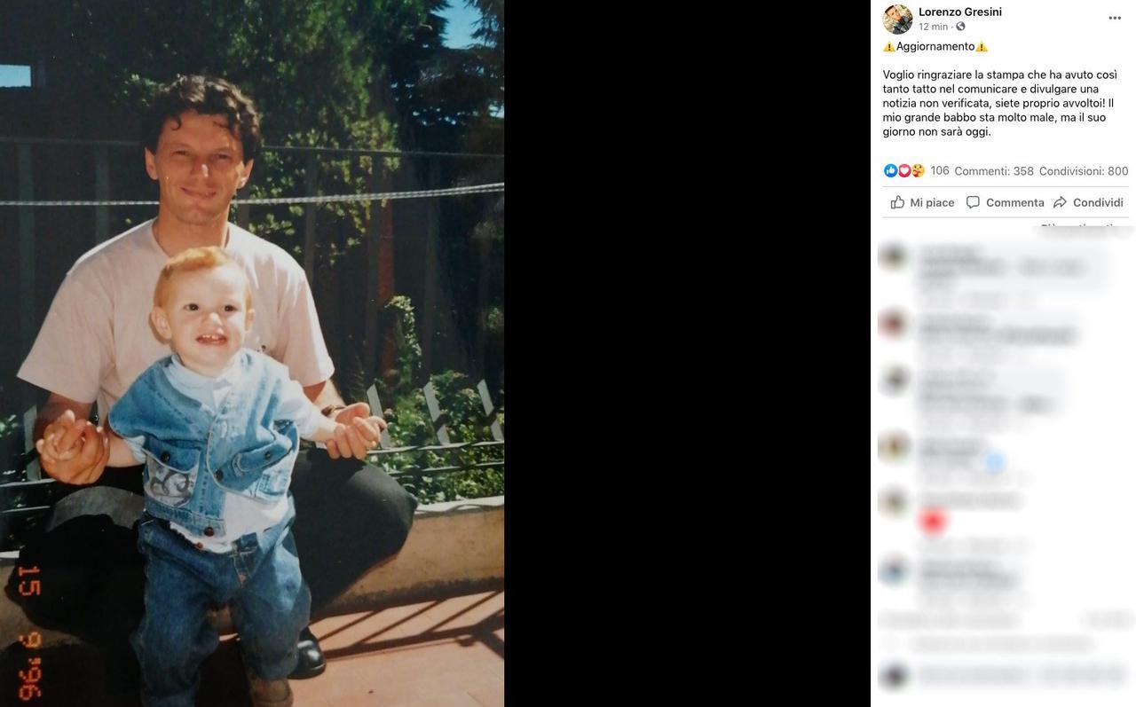 """画像: MotoGP, Lorenzo Gresini denies news of the death of his father Fausto: """"Today is not his day"""""""