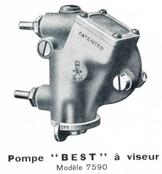 画像: ベスト&ロイドのオイルポンプのカタログより。現在のエンジンではオイルポンプは内蔵が当たり前になっていますが、かつてはクランクケースの外側に別部品として取り付けられる補器・・・という構成が一般的だったのです。 www.pinterest.co.uk