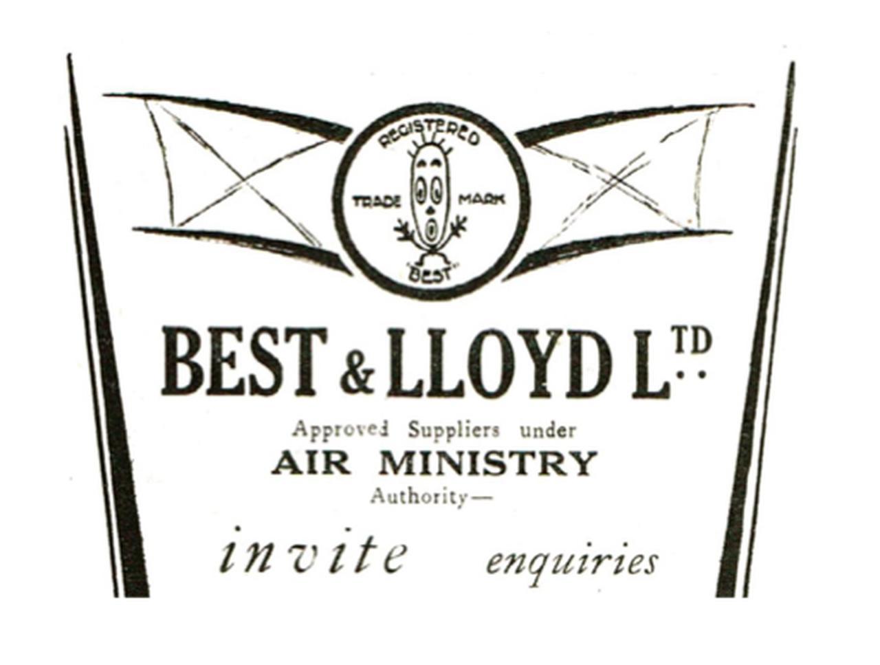 """画像: ベスト&ロイドは製品を、英航空省にも納めていました。複葉機の中心部分に描かれた""""アレ""""が面白いですね。 bestandlloyd.com"""