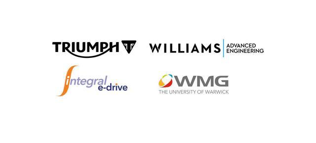 画像: これらは、プロジェクト・トライアンフTE-1に参画する4つの組織のロゴです。 www.triumphmotorcycles.co.uk