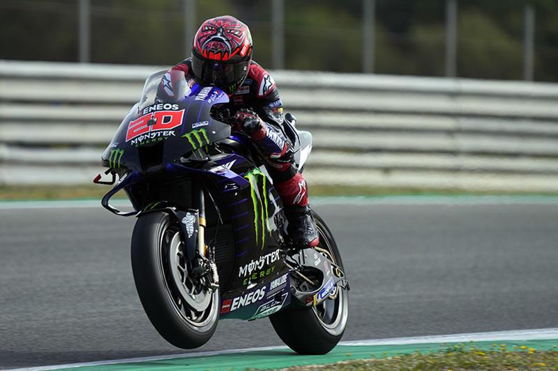 画像: 今シーズン3戦を消化して2勝を記録し、現在ランキング首位に立つF.クアルタラロ(ヤマハ)は初日2番手。 race.yamaha-motor.co.jp
