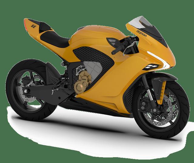 画像: デーモン・モーターサイクルズのハイパースポーツSE。16,995ドル≒1,845,000円で購入するほか、サブスクリプション方式で199ドル/月≒21,600円/月でも乗ることができるユニークな設定です。主要スペックは100馬力、最高速度193km/h、航続距離173.8kmとなります。 damon.com