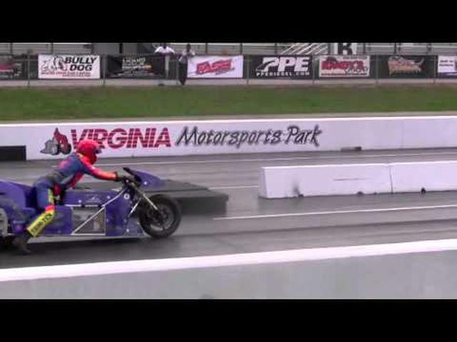 """画像: 201 mph @ 6.94 sec - Lawless OCC Electric Drag Bike & Larry """"Spiderman"""" McBride youtu.be"""
