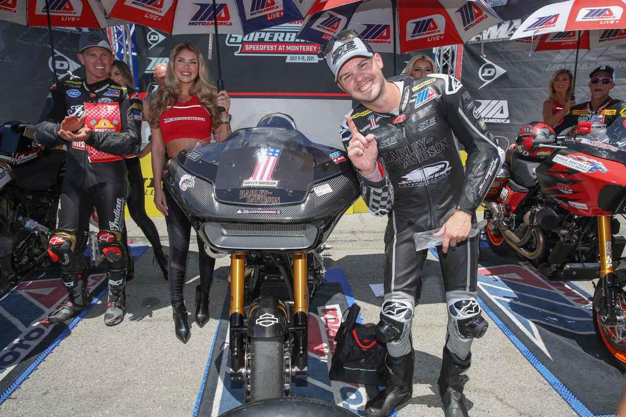 画像: ファクトリーライダーとしての重圧をはねのけ、今シーズン2勝でタイトルを獲得したK.ワイマン。 motoamerica.com