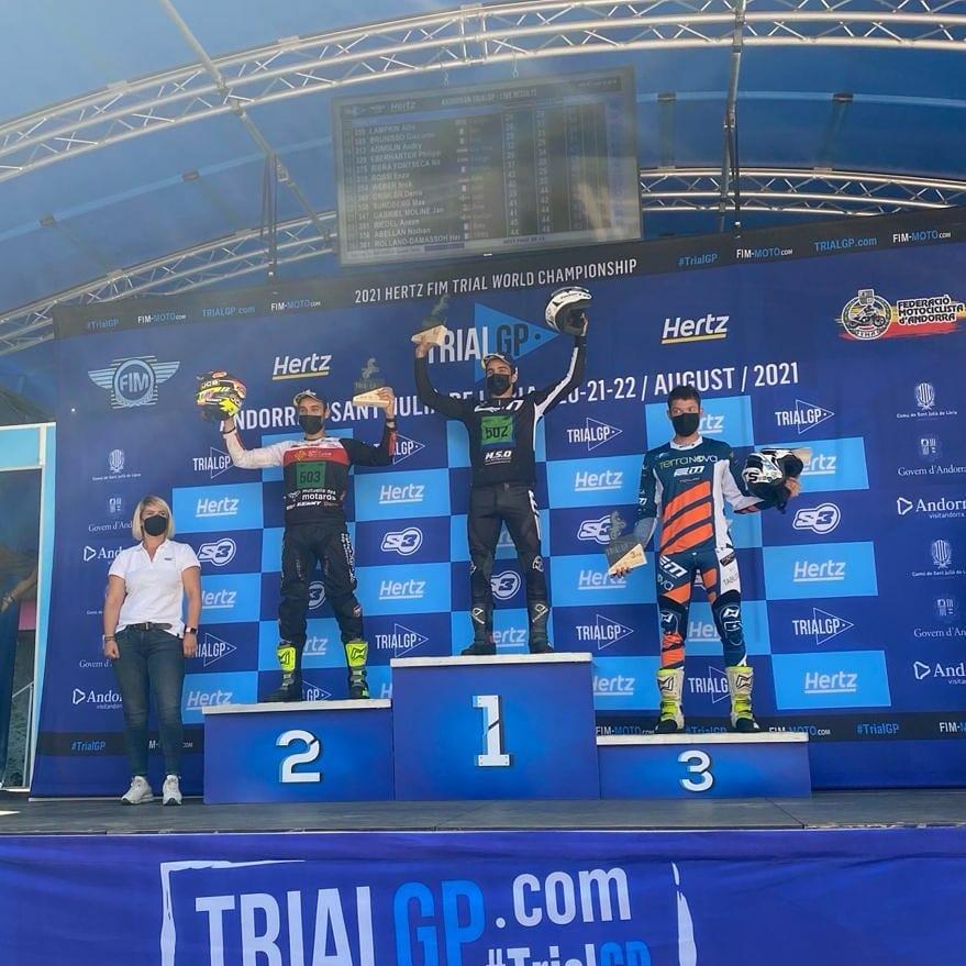 画像: アンドラでの表彰台。G.シャタヌは見事優勝し、初のトライアルE王者へ前進しました。 www.facebook.com