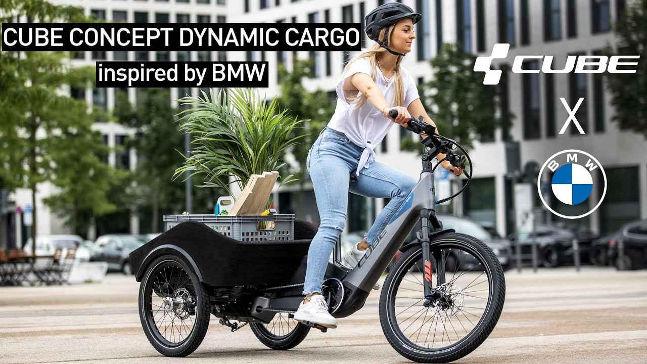 画像: Urban transport revolution | Concept Dynamic Cargo inspired by BMW [2021] - CUBE Bikes Official youtu.be