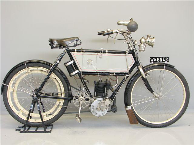 画像: 1900年パリ五輪に参加したウェルナーは、ロシア系フランス人兄弟が作った会社です。1896年からICE搭載自転車を製造し、「モトシクレッタ」というオートバイを意味する仏語を生み出したブランドでもあります(写真は1904年型ド・ディオン-ブートン製230cc搭載モデル)。 en.wikipedia.org