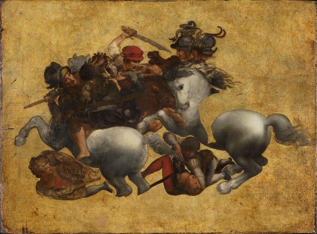 画像: 16世紀の画家《アンギアーリの戦い(タヴォラ・ドーリア)》 16世紀 油彩/板 85.0×115.0cm ウフィツィ美術館蔵(東京富士美術館より寄贈)