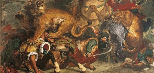 画像: ウジェーヌ・ドラクロワ 《ライオン狩り》 1854-55年 175×360cm ボルドー美術館 ©Musée des Beaux-Arts - Mairie de Bordeaux. Cliché L. Gauthier