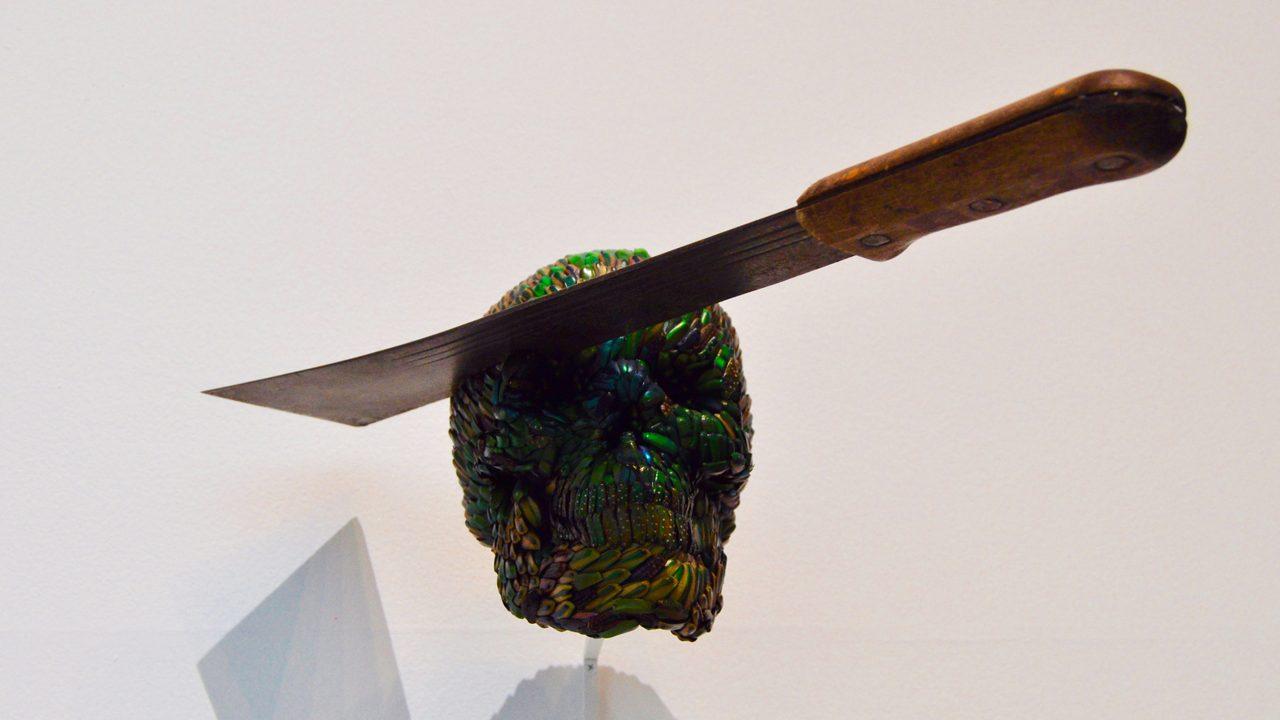 画像: SKULL WITH MACHETE I.(髑髏とマチェット I)2013