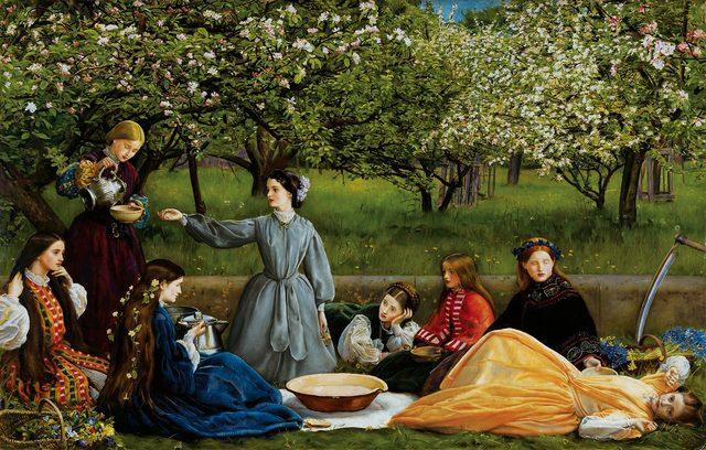 画像: ジョン・エヴァレット・ミレイ 《春(林檎の花咲く頃)》 1859年 油彩・カンヴァス © Courtesy National Museum Liverpool, Lady Lever Art Gallery
