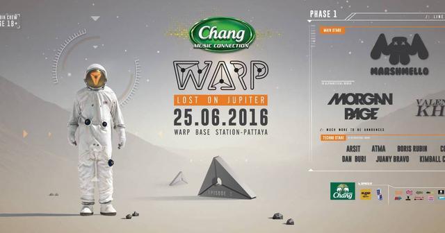 画像: パーティーアイランドのパタヤで開催されるWarp Music FestivalのiFLYERチケット販売開始