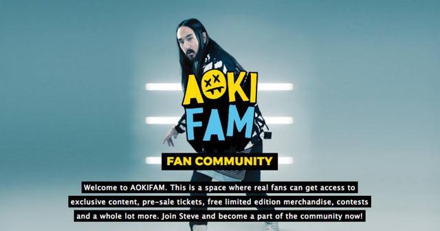 画像: STEVE AOKIがファンクラブサイトをスタート!限定コンテンツなどを独占配信!