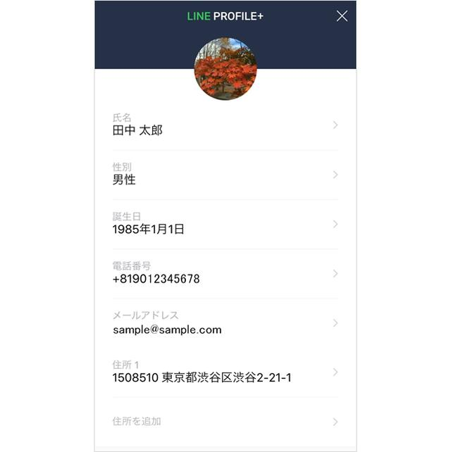 画像: 名前や住所をいろんなサイトで入力する手間とサヨナラ!LINEのアカウント情報に新機能「プロフィール+」登場 | LINE公式ブログ