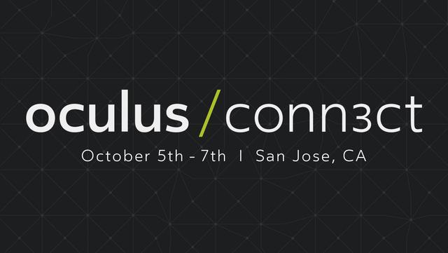 画像: Oculus Connect 3 | Oculus Developer Conference | San Jose, CA, October 5 - 7, 2016