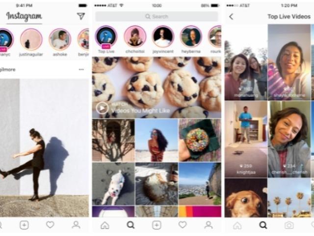 画像: Instagramでライブ配信が可能に--Snapchatに似た消えるメッセージ機能も
