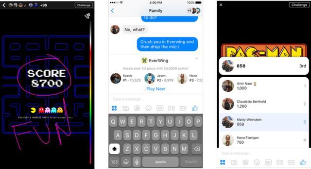 画像: Messengerでパックマンやスペースインベーダーなど17種類のゲームができる新機能「インスタントゲーム」を発表 | Facebookニュースルーム