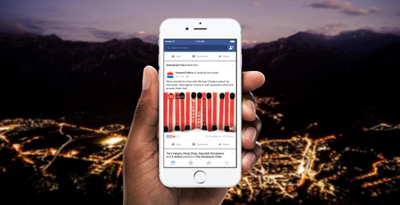 画像: Introducing Live Audio   Facebook Media