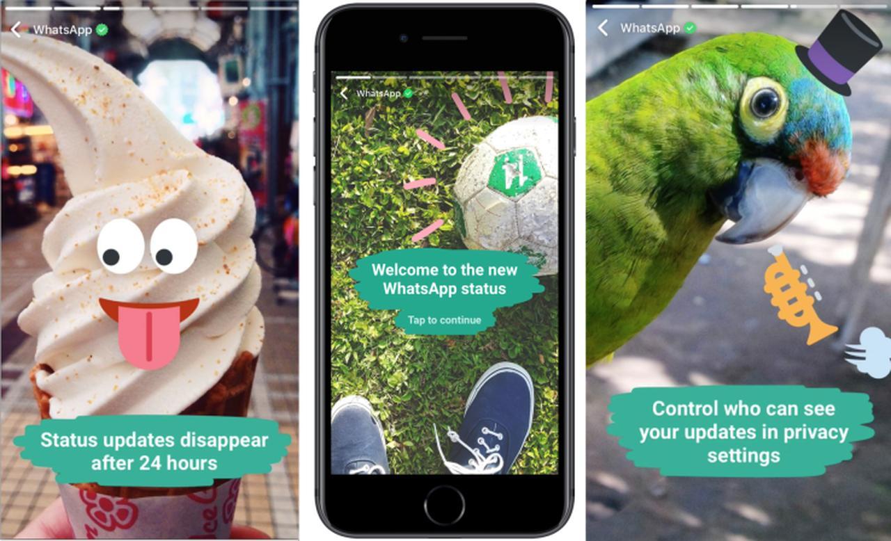画像: WhatsAppが加工写真共有のStatusをスタート―Snapchatクローンだが暗号化 | TechCrunch Japan