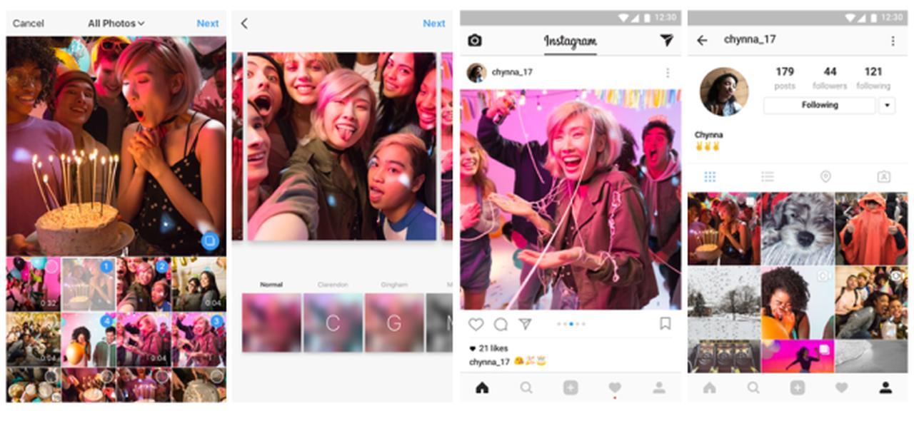 画像: インスタグラム、1つの投稿に複数の写真や動画をシェアできる機能を導入   Facebookニュースルーム