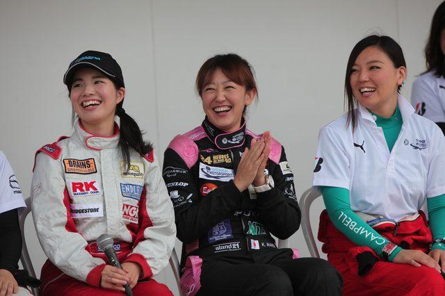 画像1: マツダWIMの女性ドライバーがトークショー、マツ耐に出場!会場に華を添えます