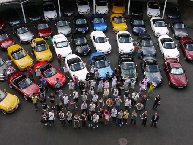画像1: 60台のNCECロードスターがマツダR&Dに集結!