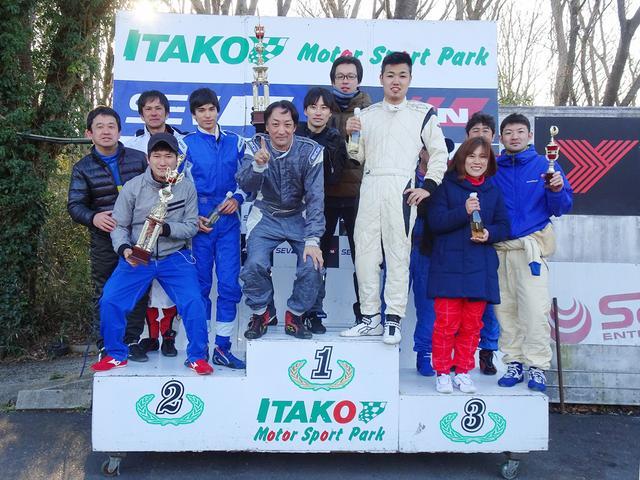 画像: 耐久レースごっこの優勝は梅田さん、鎌倉さん、梶さん、浅沼さんのチーム AUTOEXE !?