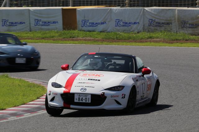 画像: MZRacing(エムゼット レーシング) マツダモータースポーツ情報サイト - 東日本NDシリーズ第3戦、スタートで7位に沈んだ梅田のショータイム