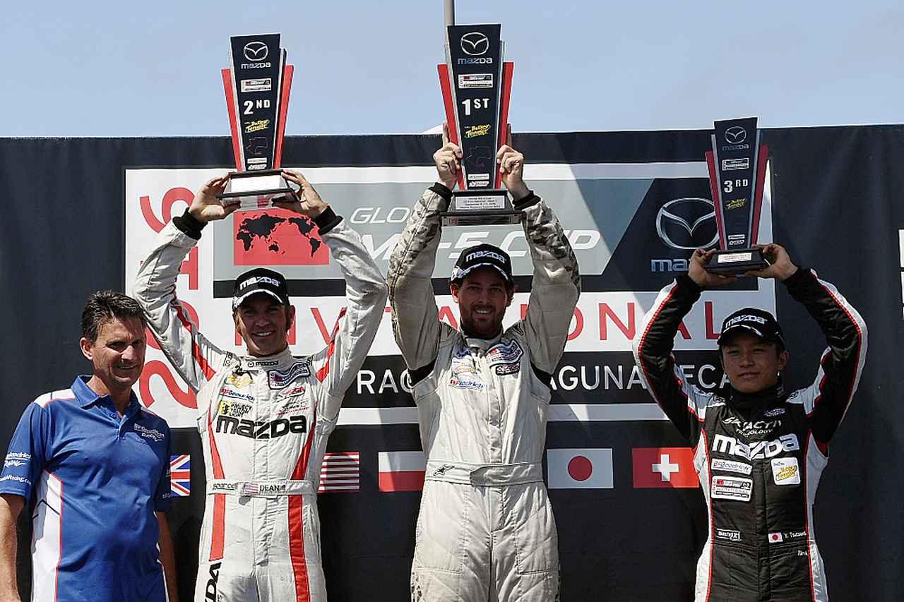 画像: 【マツダGLOBAL MX-5 CUP】レース2で日本の堤選手が表彰台獲得!