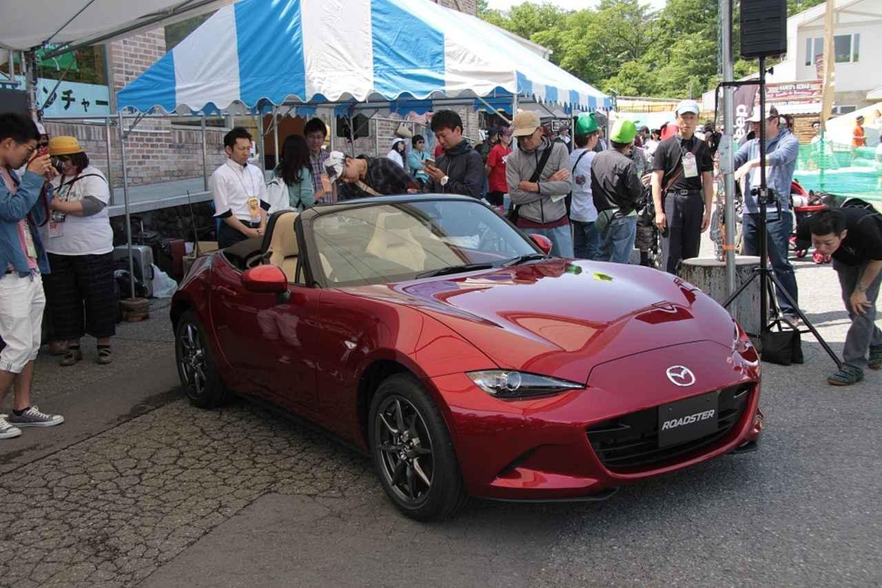 画像: 2018年5月時点では販売されていない車両が展示されていました。