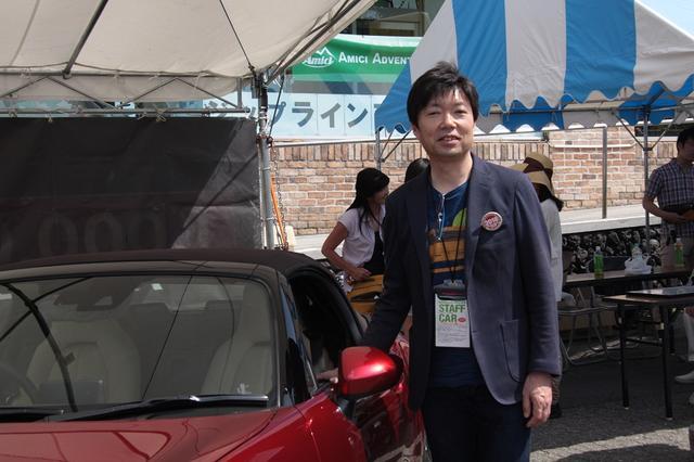 画像: NDロードスター開発主査 中山雅さん。ロードスターへの熱い想いを語ってくれました。