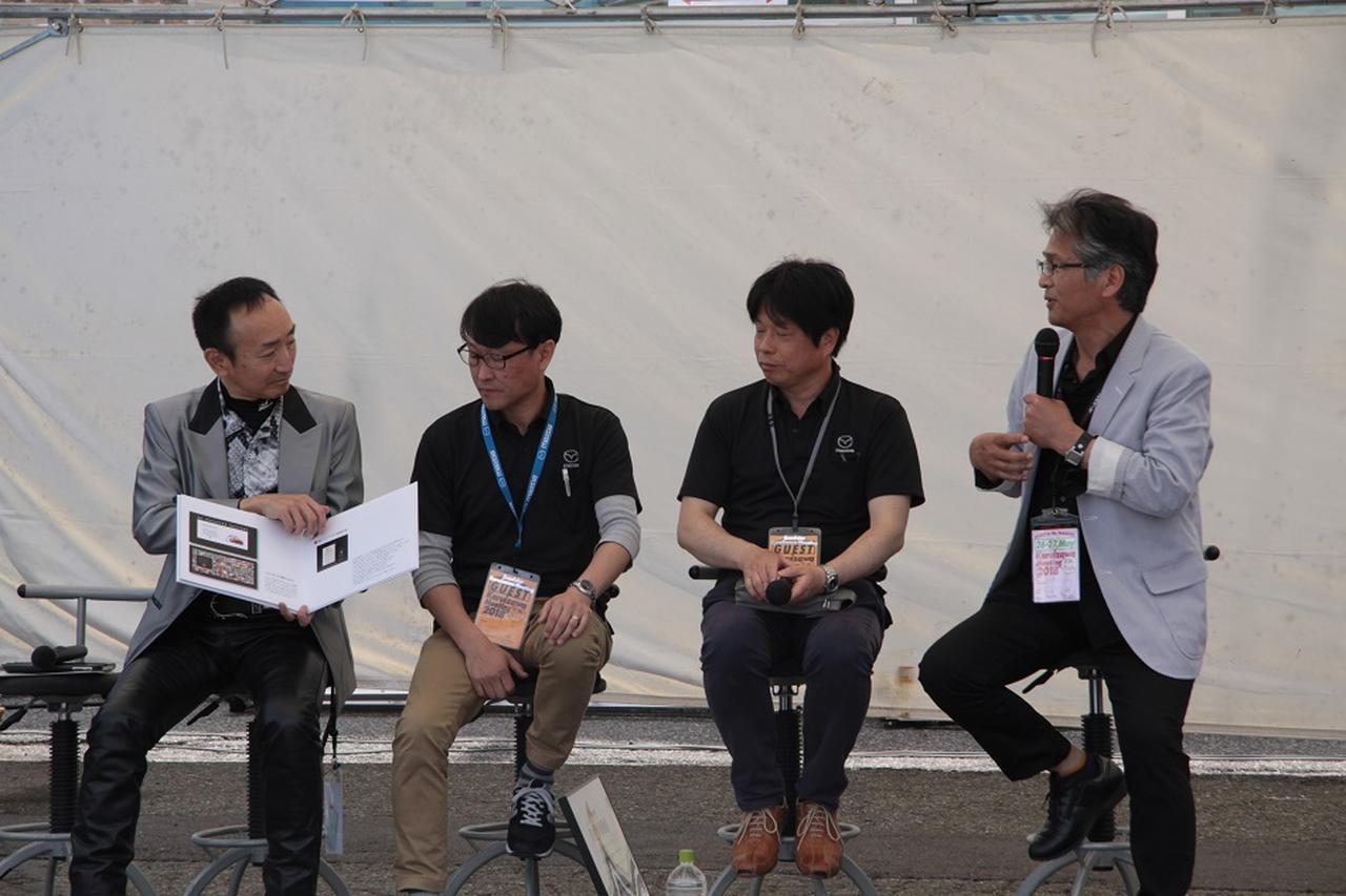 画像: トークショーではNAロードスターレストアプロジェクトの詳細や思いが伝えられました。