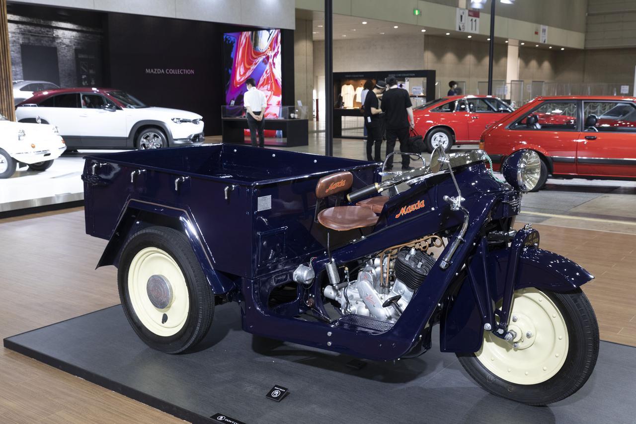 画像: 創業100周年に合わせてレストアされた3輪トラック「GA型マツダ号」
