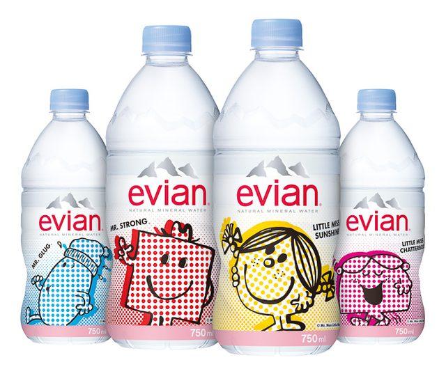 画像: エビアン×ミスターメン 日本限定のオリジナルデザインラベルが登場