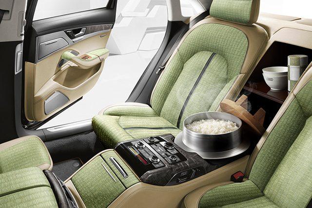 画像: Audiで極上の白飯を! The Audi A8 5.5(5ご・0.5はん=ご飯)は世界初、羽釜の炊飯器を搭載。