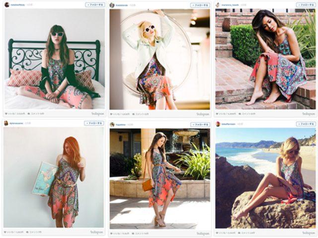 画像: 50人が同じドレスでインスタグラム撮影 着用ドレスは即完売に